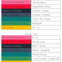 Feeding My Family: Part 1 - Menu Planning